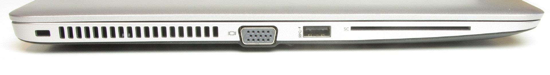 لپتاپ استوک HP مدل EliteBook 850 G3 پورت های چپ