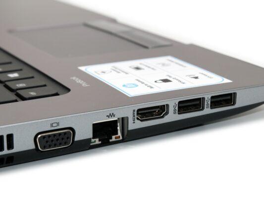 لپتاپ استوک HP مدل ProBook 470 G1 پورت های چپ