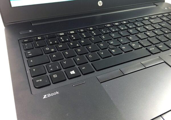 لپتاپ استوک HP مدل ZBook 15 G3 صفحه کلید