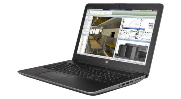 لپتاپ استوک HP مدل ZBook 15 G3 نمای راست