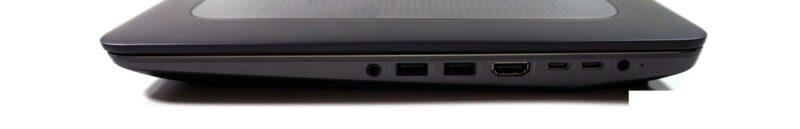 لپتاپ استوک HP مدل ZBook 15 G3 پورت های راست