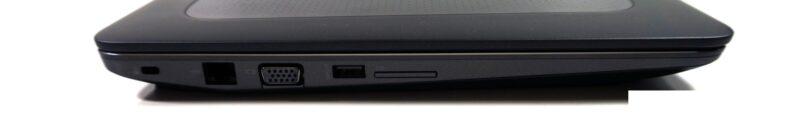لپتاپ استوک HP مدل ZBook 15 G3 پورت های چپ