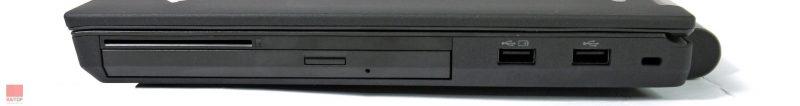 لپتاپ استوک Lenovo مدل ThinkPad T440p پورت های راست