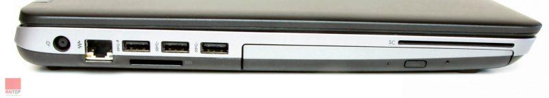 لپتاپ استوک HP مدل ProBook 650 G1 i7 پورت های چپ