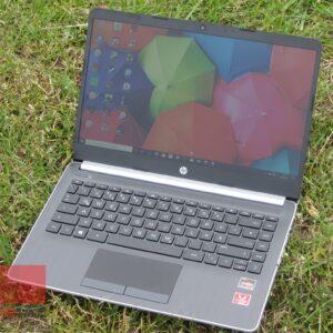 لپ تاپ استوک HP مدل 14-dk0002dx رو چمن
