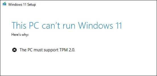 مشکل tpm نصب ویندوز 11
