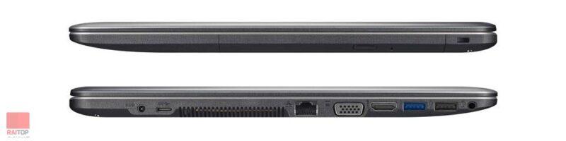 لپ تاپ استوک 15 اینچی ASUS مدل X540LJ پورت ها