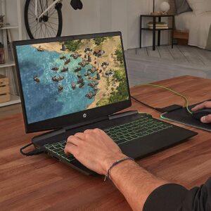 لپ تاپ استوک 15 اینچی HP مدل Pavilion Gaming 15-DK1 در حال بازی