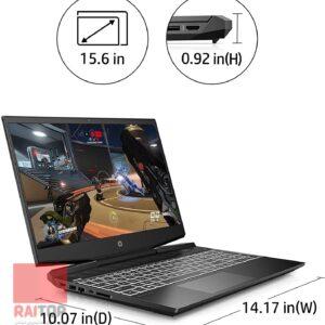 لپ تاپ استوک 15 اینچی HP مدل Pavilion Gaming 15-DK1 مشخصات ابعاد