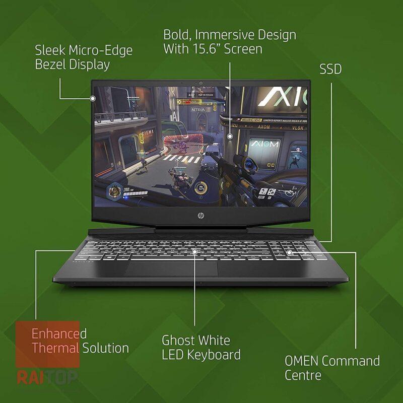 لپ تاپ استوک 15 اینچی HP مدل Pavilion Gaming 15-DK1 مشخصات