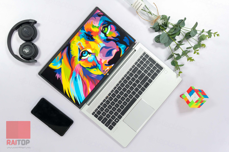 لپ تاپ استوک 15 اینچی HP مدل ProBook 455 G8 از بالا