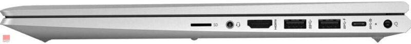 لپ تاپ استوک 15 اینچی HP مدل ProBook 455 G8 پورت های راست