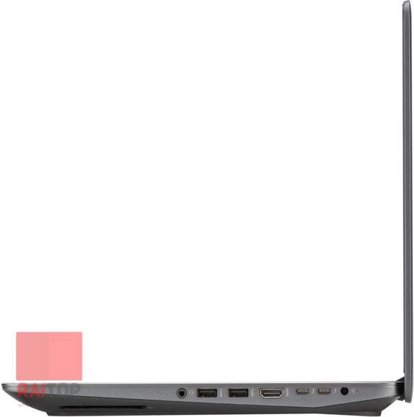 لپ تاپ استوک 15 اینچی HP مدل ZBook 15 Studio G3 پورت های راست