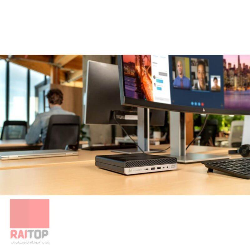 مینی کیس استوک HP مدل EliteDesk 800 G5 i7 به همراه ماوس و کیبرد اچپی تزیینی