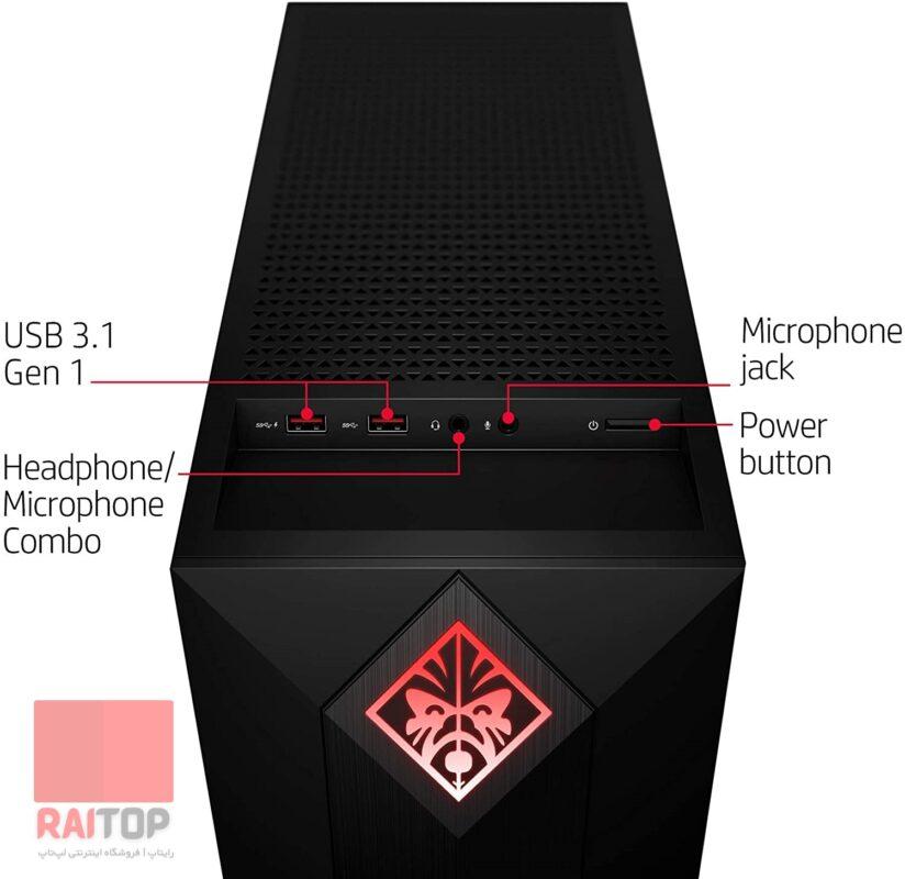 کیس گیمینگ HP مدل OMEN Obelisk - 875-10 پورت ها