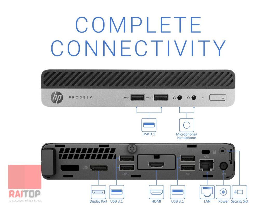HP ProDesk 400 G5 Desktop Mini PC پورت ها