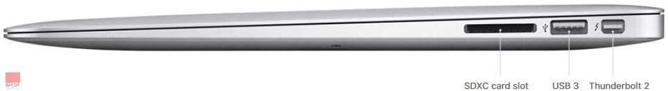 لپ تاپ استوک 13 اینچی Apple مدل MacBook Air 2017 پورت های راست