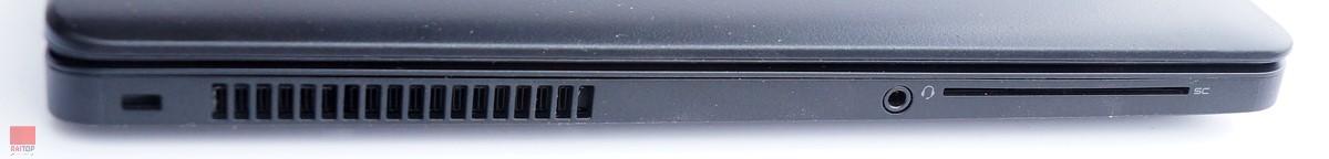 لپ تاپ استوک 15 اینچی Dell مدل Latitude E5550 پورت های چپ
