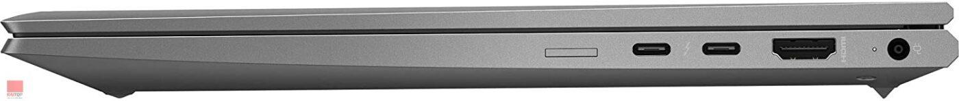 لپ تاپ استوک HP مدل ZBook Firefly 14 G7 i7 16GB پورت های راست