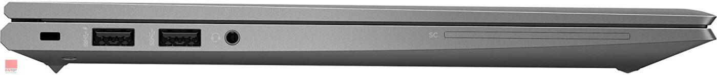 لپ تاپ استوک HP مدل ZBook Firefly 14 G7 i7 16GB پورت های چپ