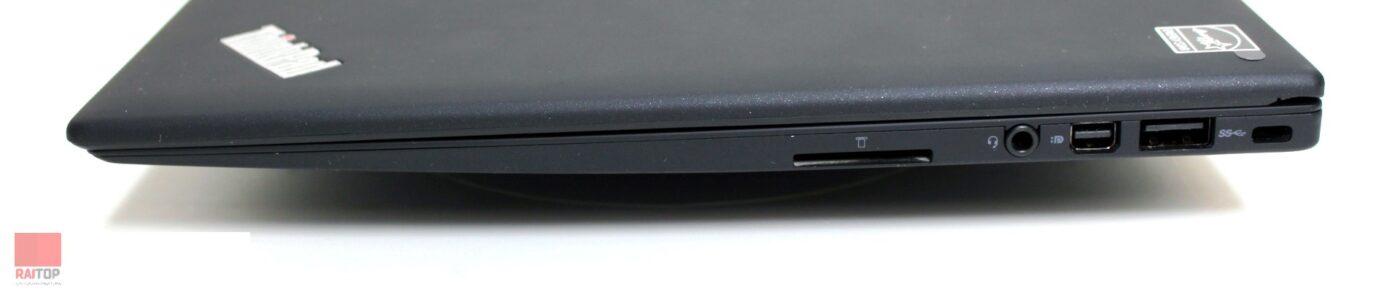 لپ تاپ استوک Lenovo مدل Thinkpad X1 Carbon i7 پورت های راست