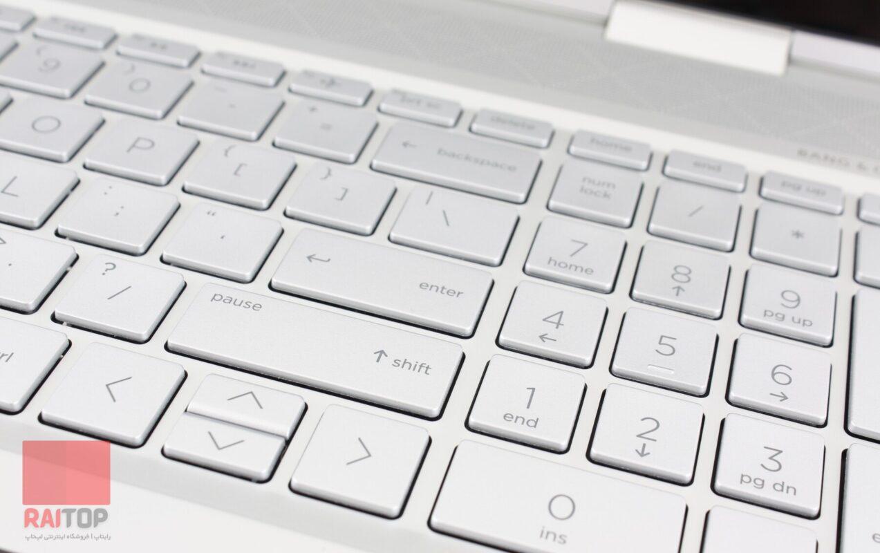 لپ تاپ اپن باکس 15 اینچی Hp مدل ENVY x360 Convertible 15-dr1 صقحه کلید