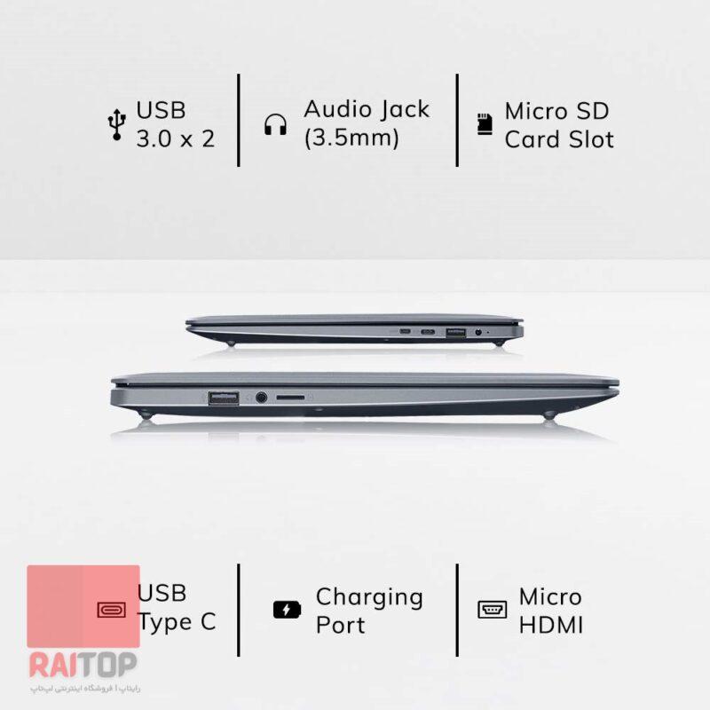 لپ تاپ 14 اینچی Avita مدل Pura NS14A6 پورت ها
