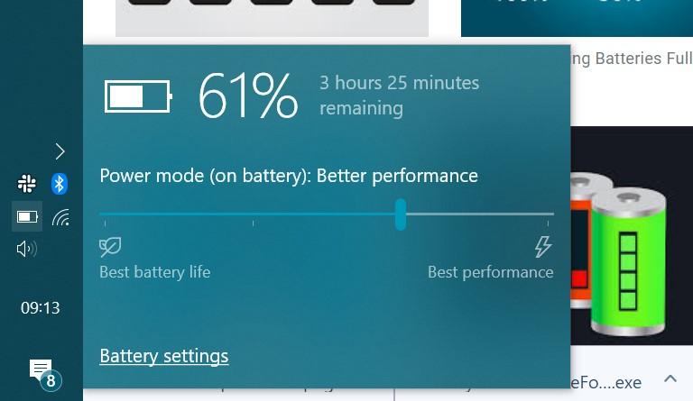 شارژ باتری میانه لپ تاپ