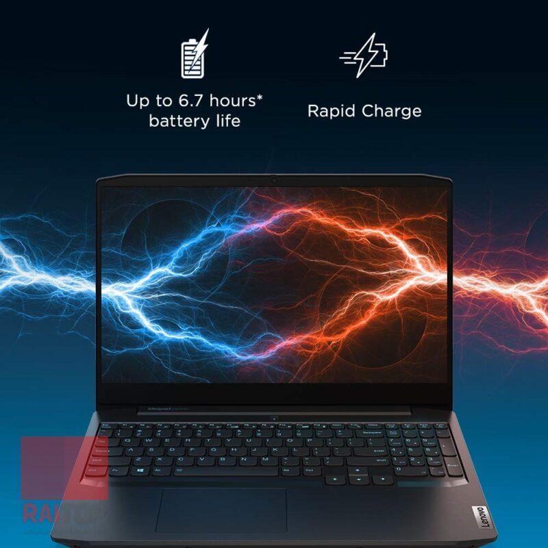 لپ تاپ گیمینگ 15.6 اینچ Lenovo مدل IdeaPad Gaming 3 Ryzen 5 باتری و شارژ