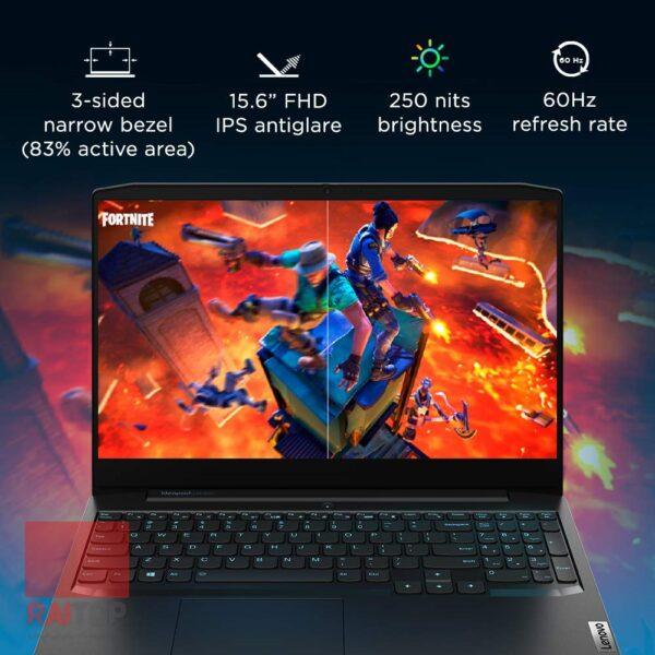 لپ تاپ گیمینگ 15.6 اینچ Lenovo مدل IdeaPad Gaming 3 Ryzen 5 صفحه نمایش