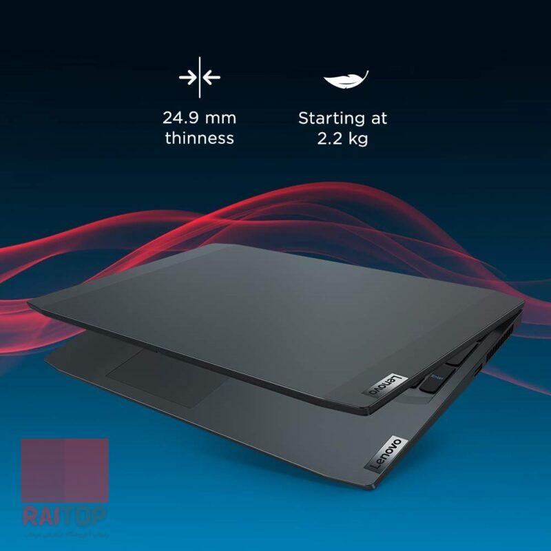 لپ تاپ گیمینگ 15.6 اینچ Lenovo مدل IdeaPad Gaming 3 Ryzen 5 طراحی و ساختار