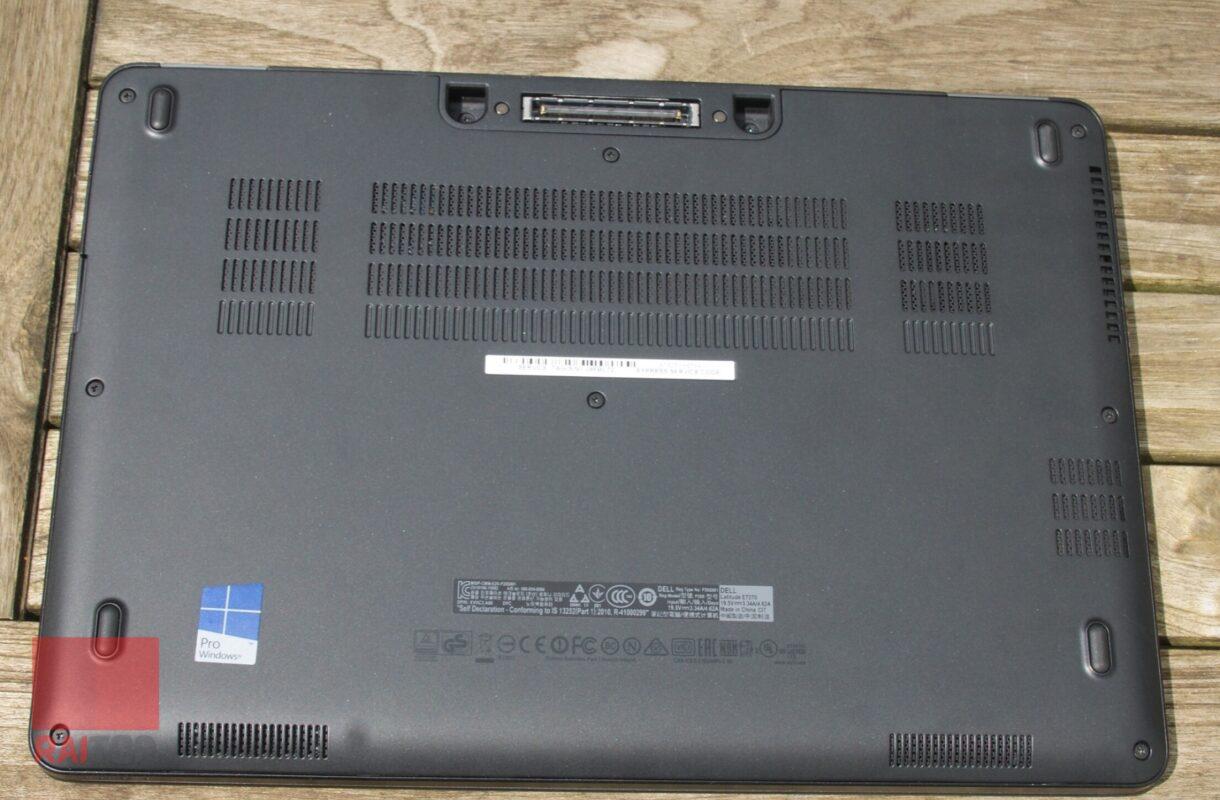 لپ تاپ استوک 12.5 اینچی Dell مدل Latitude E7270 قاب زیرین