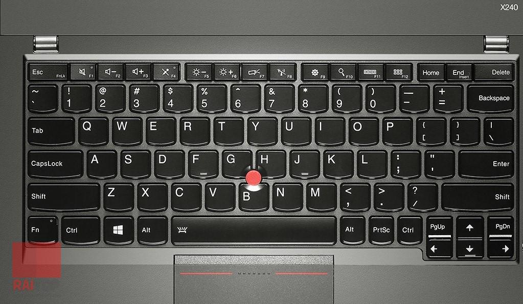 لپ تاپ استوک 12.5 اینچی Lenovo مدل ThinkPad X240 i5 صفحه کلید