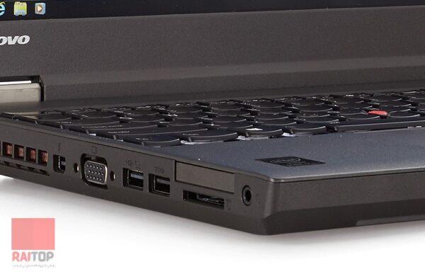 لپ تاپ استوک 15 اینچی Lenovo مدل ThinkPad W540 پورت های چپ