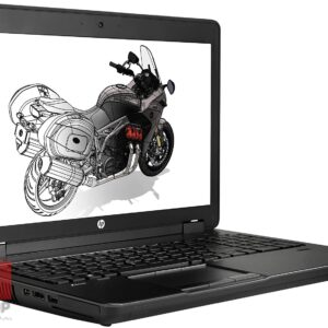 لپ تاپ استوک HP مدل ZBOOK 15 G2 i7 Workstation رخ چپ