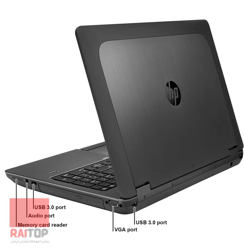 لپ تاپ استوک HP مدل ZBOOK 15 G2 i7 Workstation پشت راست