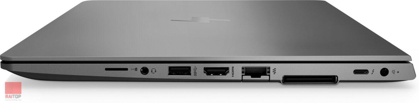 لپ تاپ اپن باکس ورک استیشن HP مدل ZBook 14u G6 پورت های راست