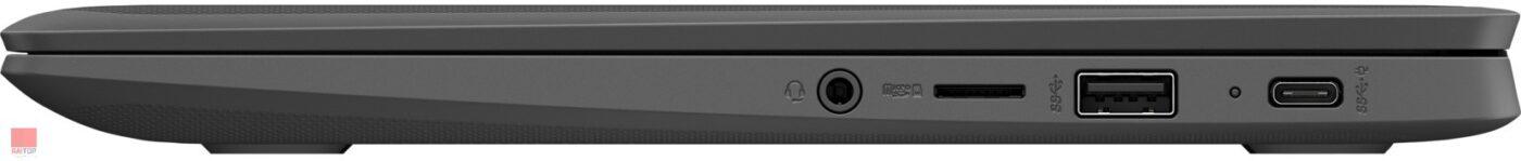 لپ تاپ اپن باکس کروم بوک HP مدل Chromebook 11 G8 EE پورت های راست