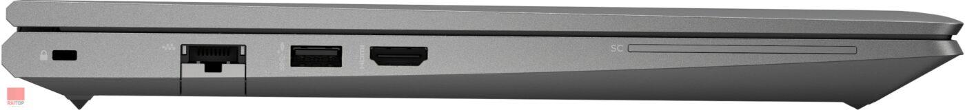 لپ تاپ اپن باکس 15.6 اینچی HP مدل ZBook Power G7 پورت های چپ