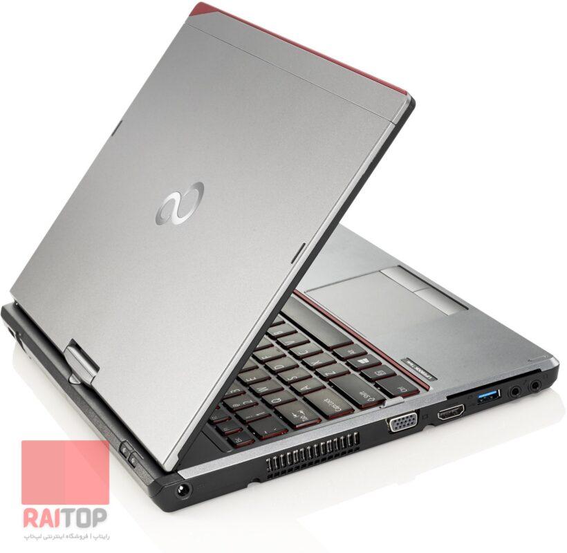 لپ تاپ استوک چرخشی Fujitsu مدل Lifebook T725 لمسی پشت چپ