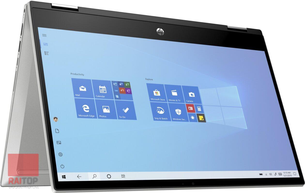 لپ تاپ استوک 14 اینچی چرخشی HP مدل Pavilion x360 14m-dw1 نسل 11 ایستاده