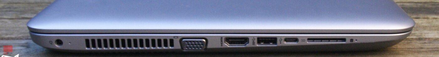 لپ تاپ استوک 15 اینچی HP مدل ProBook 450 G4 پورت های چپ