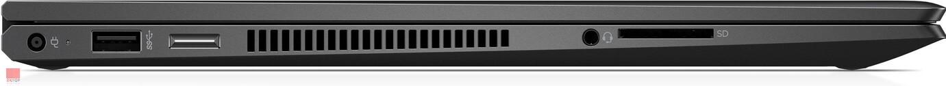 لپ تاپ 15 اینچی HP مدل ENVY x360 -15-ds پورت های چپ