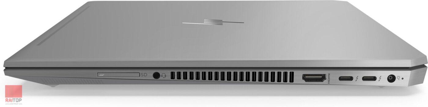لپ تاپ 15 اینچی HP مدل ZBook 15 Studio G5 Workstation - i7 پورت های راست